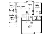 Cottage Style House Plan - 3 Beds 2 Baths 1701 Sq/Ft Plan #455-223 Floor Plan - Main Floor Plan