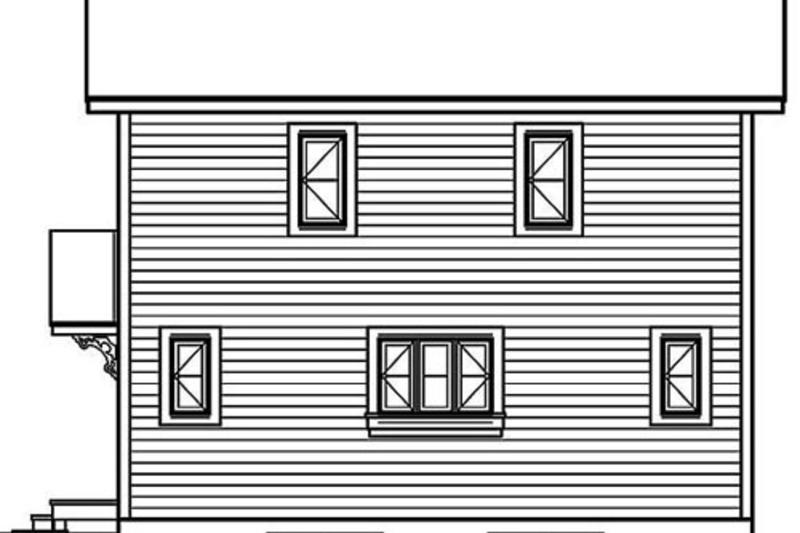 Modern Exterior - Rear Elevation Plan #23-2029 - Houseplans.com