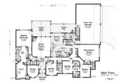 European Style House Plan - 4 Beds 3.5 Baths 3780 Sq/Ft Plan #310-1295 Floor Plan - Main Floor
