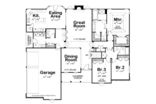 Traditional Floor Plan - Main Floor Plan Plan #20-2244