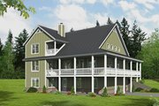 Country Style House Plan - 3 Beds 3 Baths 2438 Sq/Ft Plan #932-348 Exterior - Rear Elevation
