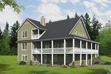 House Design - Country Exterior - Rear Elevation Plan #932-348