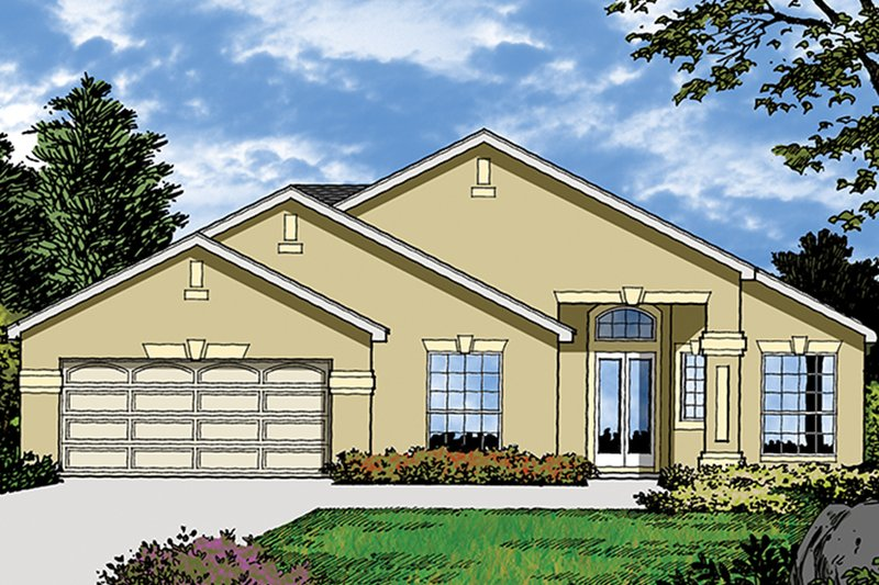 Mediterranean Exterior - Front Elevation Plan #417-850