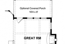 Colonial Exterior - Rear Elevation Plan #316-278
