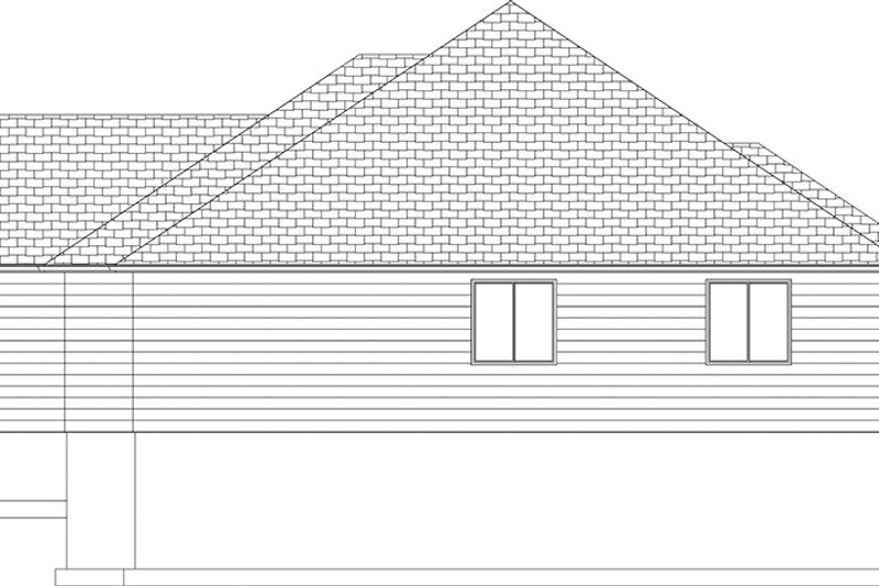Ranch Exterior - Other Elevation Plan #1060-34 - Houseplans.com