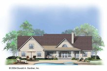 Home Plan - Country Exterior - Rear Elevation Plan #929-729