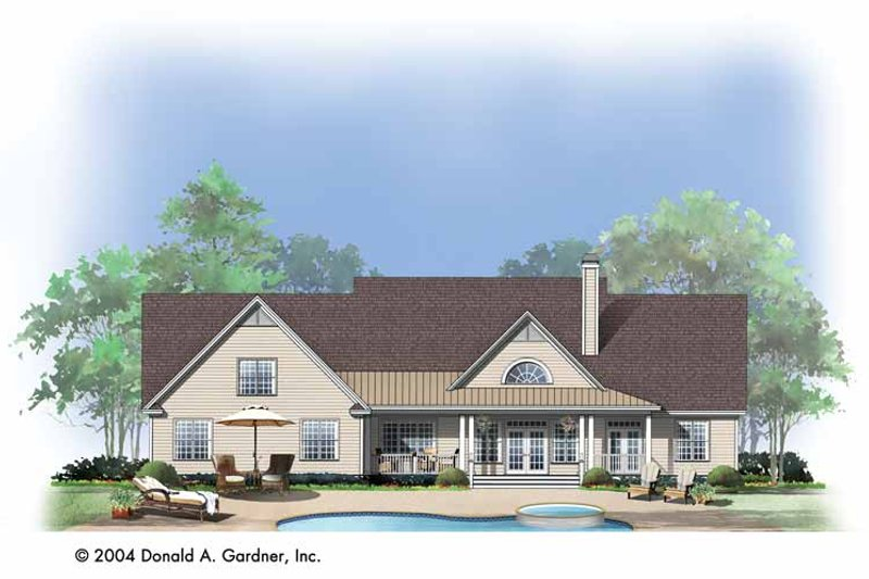 Country Exterior - Rear Elevation Plan #929-729 - Houseplans.com