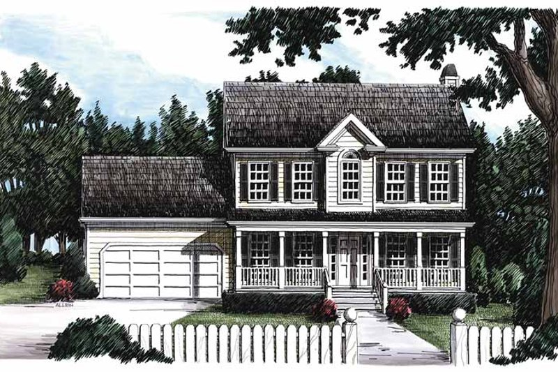 Classical Exterior - Front Elevation Plan #927-47 - Houseplans.com