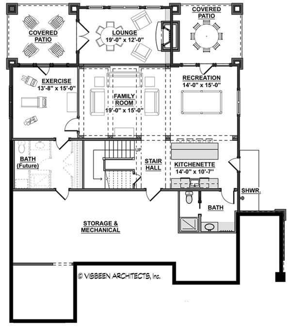 Colonial Floor Plan - Lower Floor Plan Plan #928-298