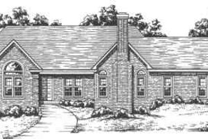 Ranch Exterior - Front Elevation Plan #30-175