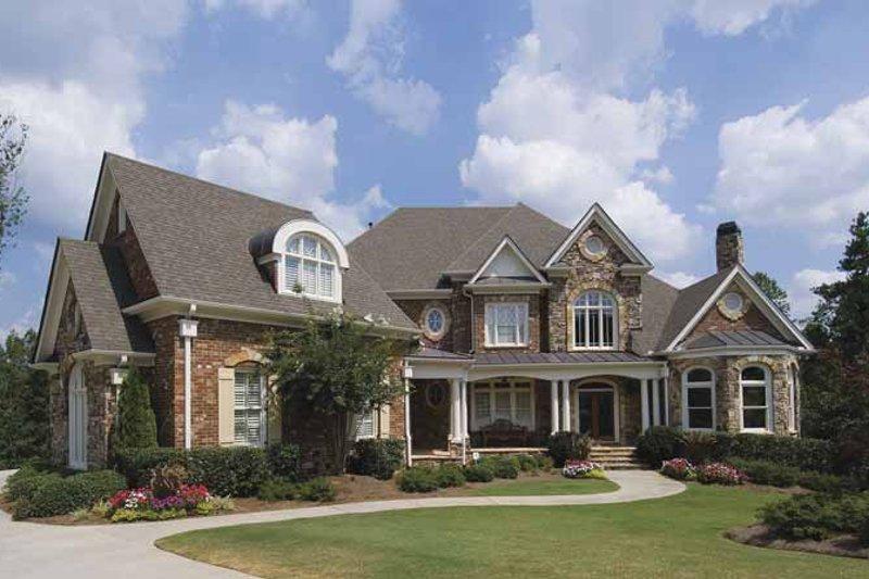 House Plan Design - European Exterior - Front Elevation Plan #54-269