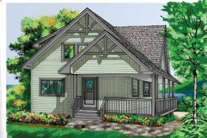 Home Plan - Traditional Exterior - Front Elevation Plan #118-147