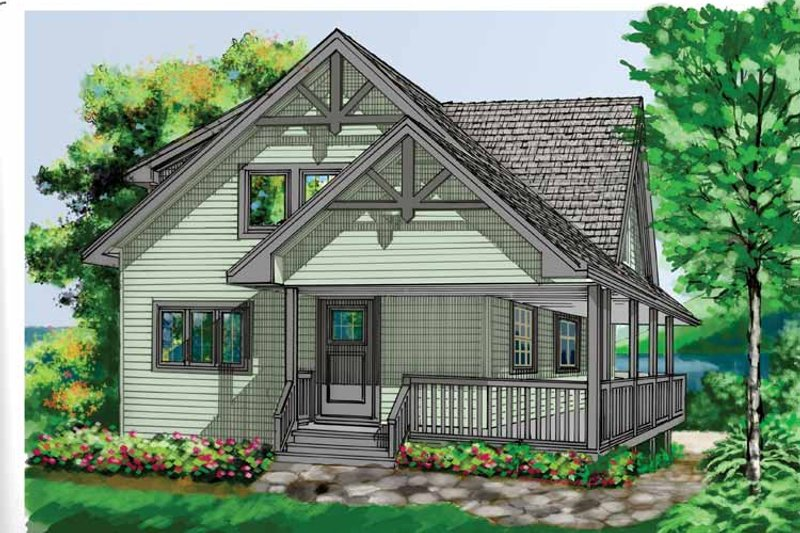 Traditional Exterior - Front Elevation Plan #118-147 - Houseplans.com
