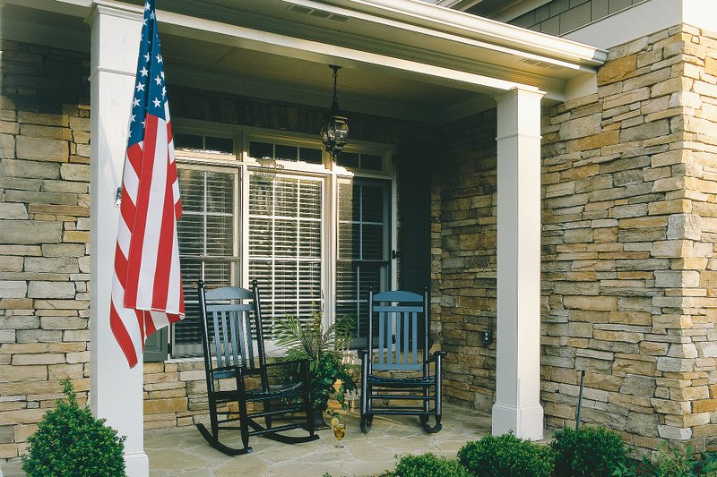 Country Exterior - Covered Porch Plan #927-8 - Houseplans.com