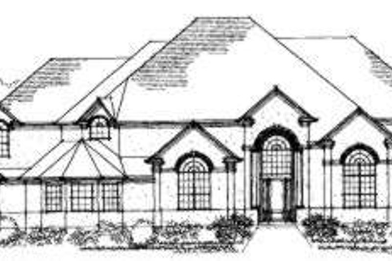 European Style House Plan - 5 Beds 4.5 Baths 6898 Sq/Ft Plan #325-112 Exterior - Front Elevation