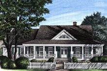 Southern style home, front elevation
