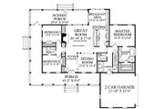 Country Style House Plan - 3 Beds 2.5 Baths 2010 Sq/Ft Plan #137-371 Floor Plan - Main Floor Plan