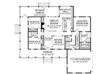 Country Floor Plan - Main Floor Plan Plan #137-371
