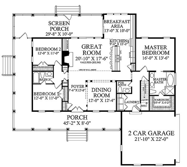 Country Floor Plan - Main Floor Plan #137-371