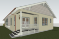 Craftsman Style House Plan - 3 Beds 2 Baths 1794 Sq/Ft Plan #489-10 Exterior - Rear Elevation