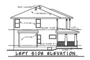 Craftsman Style House Plan - 4 Beds 2.5 Baths 2309 Sq/Ft Plan #20-2289 Exterior - Other Elevation