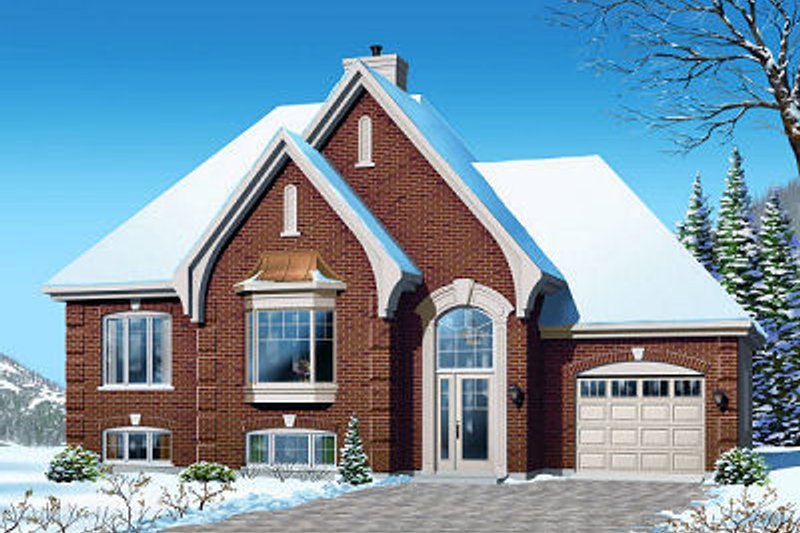 Dream House Plan - European Exterior - Front Elevation Plan #23-805