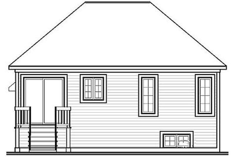 Traditional Exterior - Rear Elevation Plan #23-158 - Houseplans.com