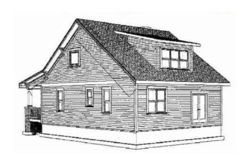 Cabin Exterior - Rear Elevation Plan #79-192 - Houseplans.com