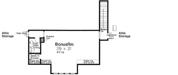 European Floor Plan - Upper Floor Plan Plan #310-993