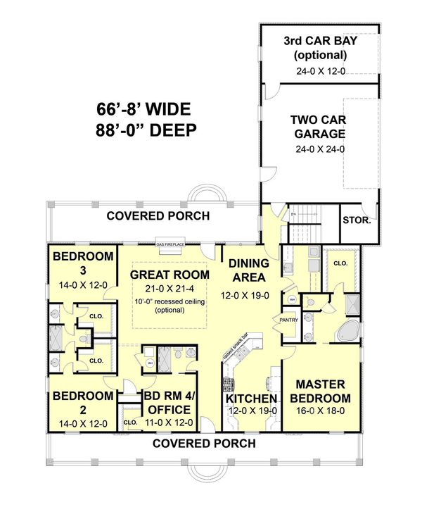 Farmhouse Floor Plan - Main Floor Plan Plan #44-187