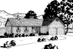 Ranch Exterior - Front Elevation Plan #36-109