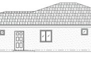 Mediterranean Style House Plan - 3 Beds 2 Baths 1763 Sq/Ft Plan #24-238 Exterior - Other Elevation