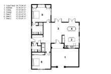 Adobe / Southwestern Floor Plan - Main Floor Plan Plan #497-60