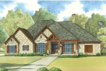 Dream House Plan - European Exterior - Front Elevation Plan #923-19