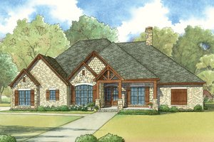 European Exterior - Front Elevation Plan #923-19