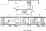Southern Style House Plan - 4 Beds 4 Baths 3149 Sq/Ft Plan #37-105 Exterior - Rear Elevation