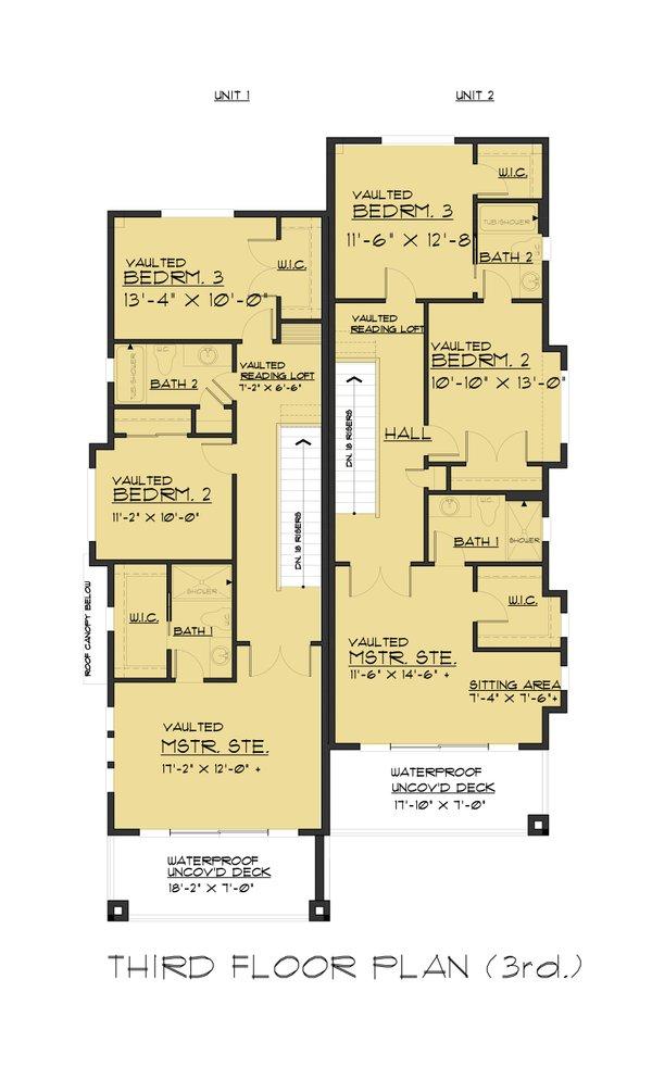 Dream House Plan - Contemporary Floor Plan - Upper Floor Plan #1066-71