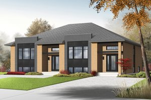 Dream House Plan - Contemporary Exterior - Front Elevation Plan #23-2597