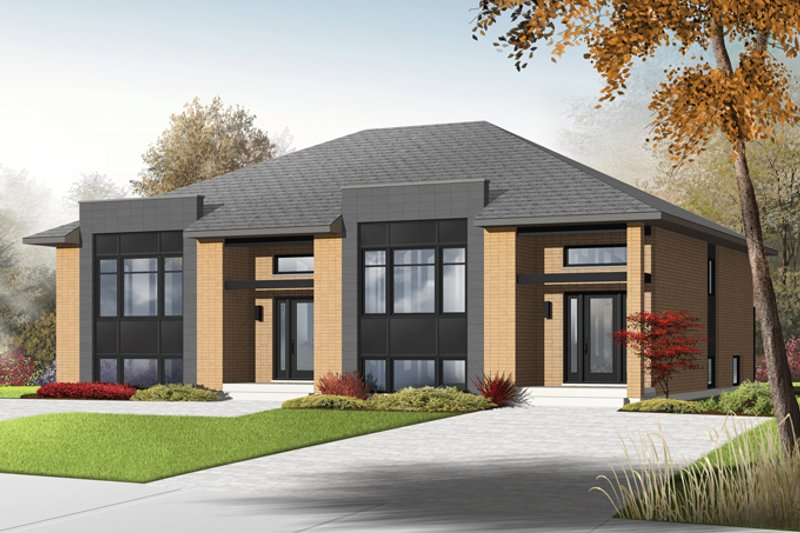 Contemporary Exterior - Front Elevation Plan #23-2597