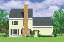Colonial Exterior - Rear Elevation Plan #72-1106