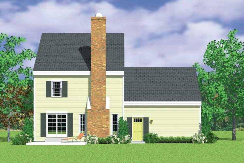 House Blueprint - Colonial Exterior - Rear Elevation Plan #72-1106