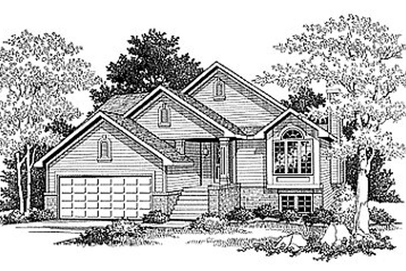 Traditional Exterior - Front Elevation Plan #70-108