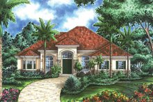Mediterranean Exterior - Front Elevation Plan #1017-55