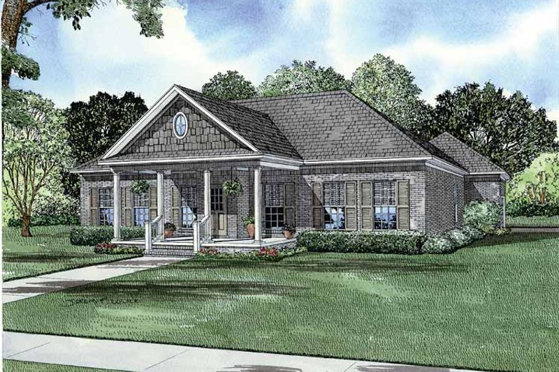 Country Exterior - Front Elevation Plan #17-2856