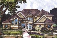 House Plan Design - Mediterranean Exterior - Front Elevation Plan #417-744