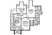 European Style House Plan - 4 Beds 4.5 Baths 4047 Sq/Ft Plan #310-628 Floor Plan - Upper Floor