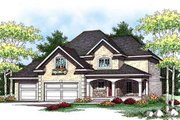 Bungalow Style House Plan - 4 Beds 2.5 Baths 2274 Sq/Ft Plan #70-935 Exterior - Front Elevation