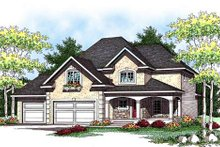 Home Plan - Bungalow Exterior - Front Elevation Plan #70-935