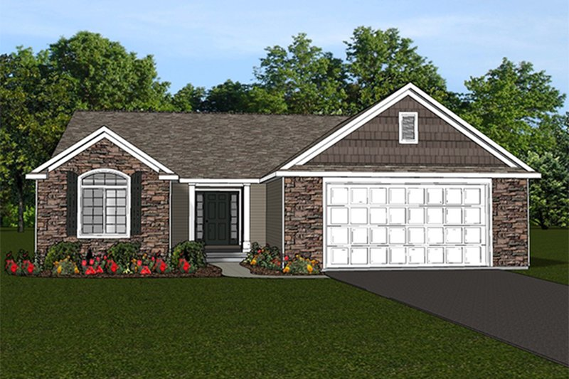 Ranch Style House Plan - 4 Beds 3 Baths 3020 Sq/Ft Plan #1064-4 Exterior - Front Elevation