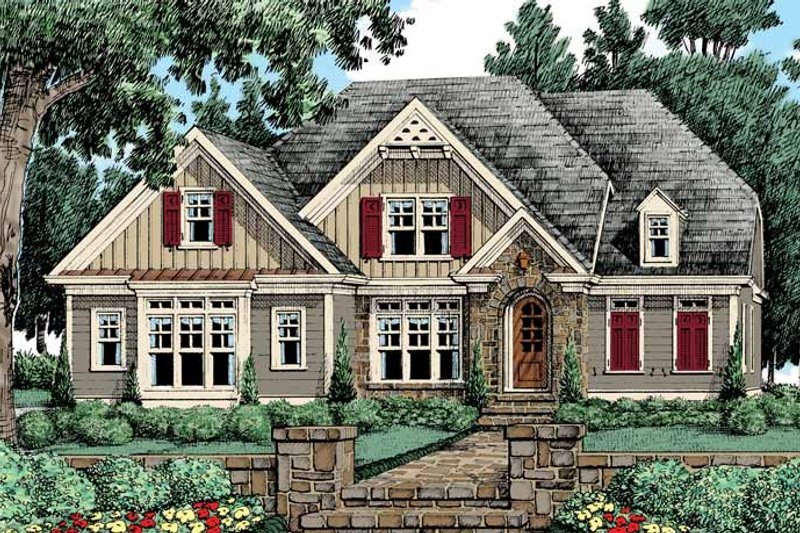 Country Exterior - Front Elevation Plan #927-425